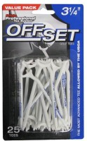 Pride Sports Offset 83 Mm Golf Tees (Pack Of 25, White)