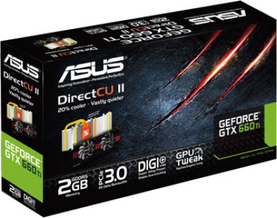 Buy Asus NVIDIA GTX660 TI-DC2-2GD5 2 GB GDDR5 Graphics Card: Graphics Card