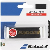 Babolat Natural Leather Tacky Touch  Grip (Black, Pack Of 1)