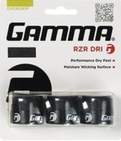 Gamma RZR Dri OverGrip Dry Feel  Grip (Black, Pack Of 3)