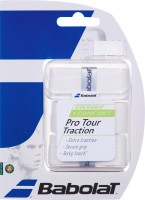 Babolat Pro Tour Traction Tacky Touch Grip (White, Pack Of 3)