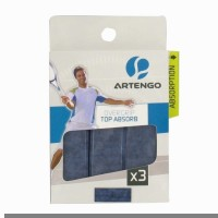Artengo Overgrip Top Absorb X3 Dry Feel  Grip (Blue, Pack Of 1)