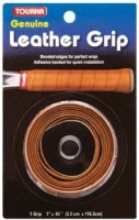 Tourna Leather Dry Feel  Grip (Brown, Pack Of 1)