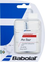 Babolat Pro Tour Tacky Touch Grip (White, Pack Of 3)