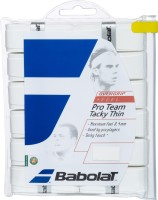 Babolat Pro Team Tacky Thin Tacky Touch Grip (White, Pack Of 12)