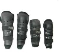 Motoway Fox Biking Elbow & Knee Knee-Shin Guard (Black)
