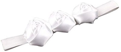 PinkXenia Hair Accessories PinkXenia White Elastic Rosset Head Band