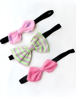 A.T.U.N. Thin Elastics Hair Band (Pink, Green)