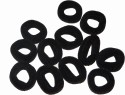 Get Dressed Black Hair Rubber Band - 6 Pieces Hair Band - Black