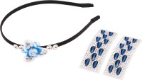 Takspin Spike Band & Clips Set Hair Accessory Set (White, Blue, Black)