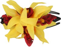 Bands N Clips Orchid Yellow Flower Hair Clip (Yellow)