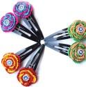MoKanc Tic Tac Clips With Crochet Motifs Hair Clip - Multicolor