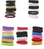 Accessher Medium Elastic Hair Band (Multicolor)