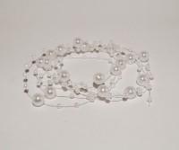 GalexiaR Bridal Wedding Beaded Pearl Decoration White 130cm Head Band White
