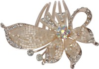 Muchmore Beautiful Bollywod Crystal Made Hair Pin For Woman And Girls Hair Clip (Beige)