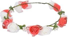 Sanjog Magnificent Roses Valentine Tiara/Headwrap For Bride/Women Head Band