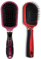 Vega Hair Brush E3-CB & Premium Collection Flat Brush E6-CB (Pack Of 2)