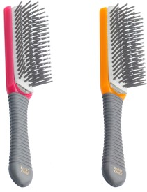 Kent Combo KB Candy Pocket Brush with Removable Pad (Pink,Orange)