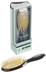 Kent Hair Brushes Kent Ruby Pure Soft White Natural Bristle Small Dressing & Styling Premium Brush