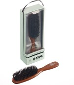 Kent Hair Brushes Kent Narrow Danta Wood Pure Black Bristle Dressing & Styling Premium Brush