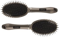 Vega Premium Cushioned Hair Brush E10-CB (set Of 2)