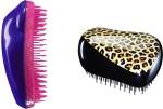 Tangle Teezer Hair Brushes Tangle Teezer Combo Original Purple and Pink and Compact Feline Groovy