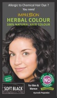 Impression Herbal Colour 100% Natural Hair Color (Soft Black)