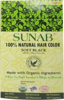 Sunab 100% Natural Soft Black Hair Color (Soft Black)