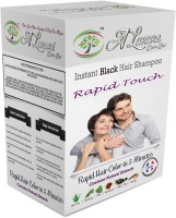 Rapid Touch Herbal Cream Shampoo Hair Color (Natural Black Hair Color Multipiece Pack Of 10 Sachets)