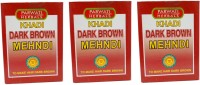 Khadi Herbal Brown Mehndi Pack Of 3 Hair Color (Brown)