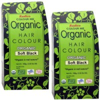 Radico Colour Me Organic Soft Black 100g (Set Of 2) Hair Color (Soft Black)