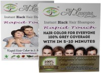 Rapid Touch Herbal Gel Hair Shampoo Hair Color (Natural Black Hair Color Multipiece Pack Of 10 Sachets)