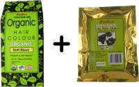 Radico Certified Organic And 100% Natural Soft Black ,Amla, Ritha, Sikakai Powder Hair Color (Green, Gold)