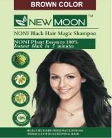 New Moon Noni Instant Fast Black Hair Shampoo 20 Sachets Brown  Hair Color (NATURAL BROWN)