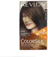 Revlon Colorsilk Hair Color With 3D Color Technology 4N Hair Color (Medium Brown)