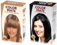 Color Mate Cream Hair Color (Light Blonde, Natural Black)