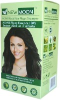New Moon Noni Black Magic Shampoo Pack Of 20 Sachet  Hair Color (Natural Black)