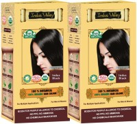 Indus Valley 100% Organic Botanical Indus Black (Twin Pack) Hair Color (Indus Black)