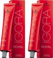 Schwarzkopf Professional Igora Royal Cream Pack Of 2 Hair Color (Dark Blonde Chocolate Red 6-68)