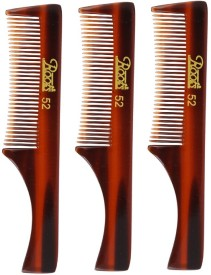 Roots Brown Pocket Comb for Moustache - Pack of 3