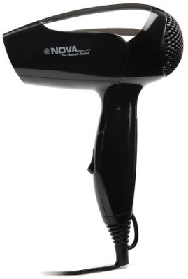 Nova Travel NHP 8101 Hair Dryer (Black, Silver)