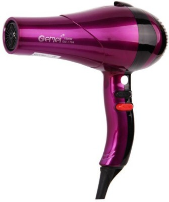 Gemei 1704 Hair Dryer (Maroon)