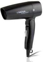 Nova 1200 W Themo Protect Foldable NHP 8102 Hair Dryer (Black)