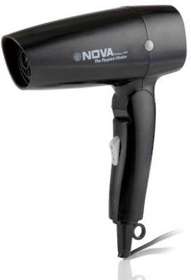 Nova 1200 W Themo Protect Foldable NHP 8102 Hair Dryer (Black)