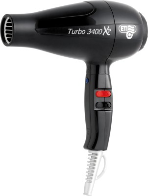 ETI Italy Professional 2200 Watts AC Motor Turbo 3400XP Hair Dryer (Black)