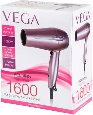 Vega I Folding 1600 VHDH-03 Hair Dryer (Pink)