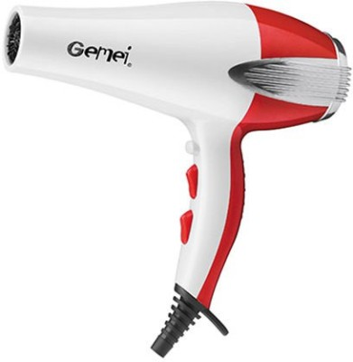 Gemei GM-1735 Hair Dryer (White, Red)