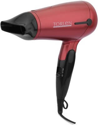 Torlen Foldable TOR 190 Hair Dryer (Red, Black)