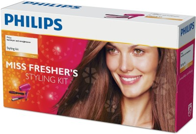 Philips Miss Fresher's Styling Kit HP8647/00 Hair Dryer (Pink)