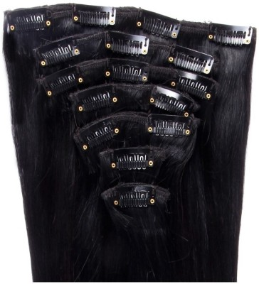 Krome-16-Remy-Human-Jet-Black-#1-Full-Head-7-pieces-16-inch-Hair-Extension